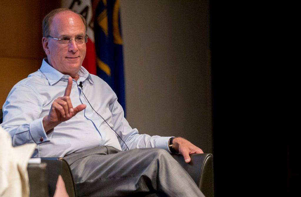 Larry Fink, chair and chief executive of BlackRock.